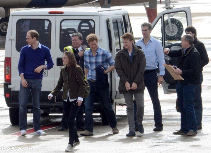 Prince William Leaves Town With Harry and a Former Flame