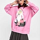 Zara Disney The Muppets Miss Piggy Sweatshirt