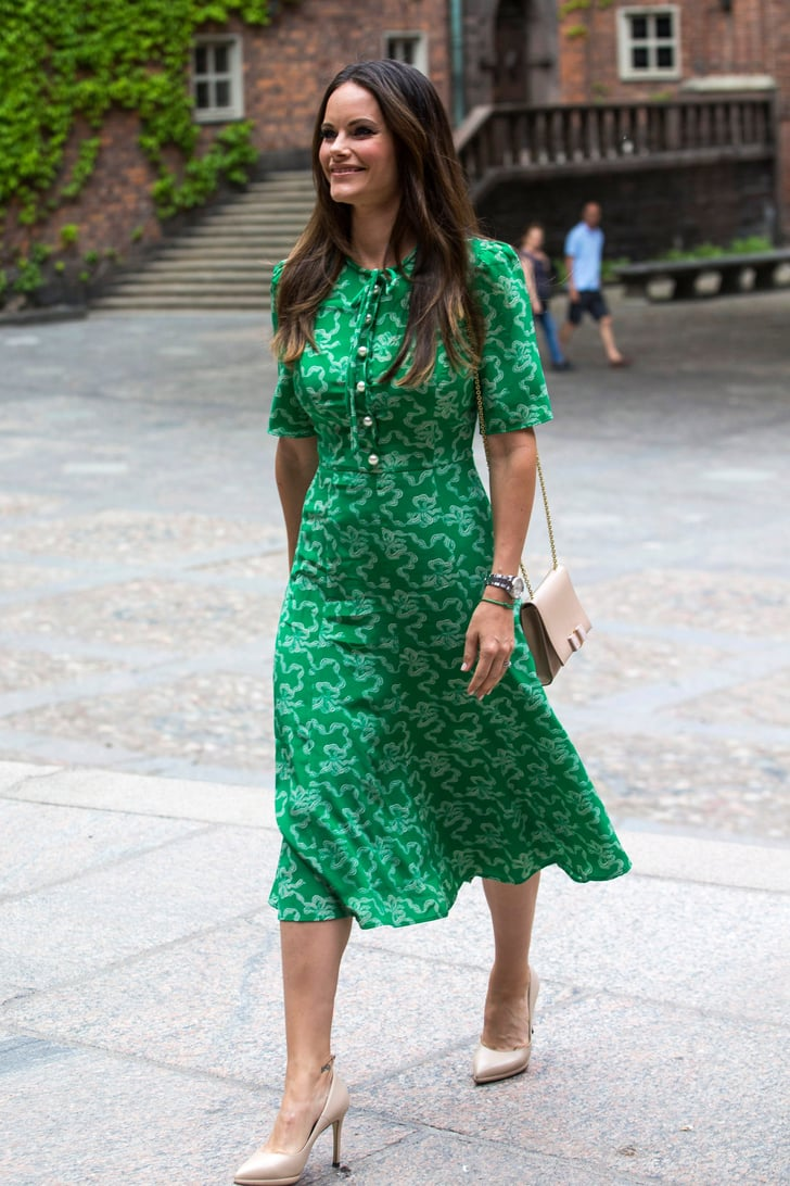 official supplier available new products Princess Sofia Green L.K. Bennett Dress | POPSUGAR Fashion