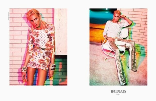 We love the bright rocker girl feel of the Balmain ads. Source: Fashion Gone Rogue