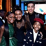 Pictured: Marsai Martin, Yara Shahidi, Marcus Scribner, and Miles Brown
