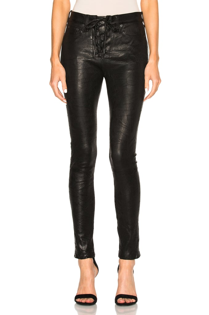 Rag & Bone Lace-Up Leather Jeans ($1,095)