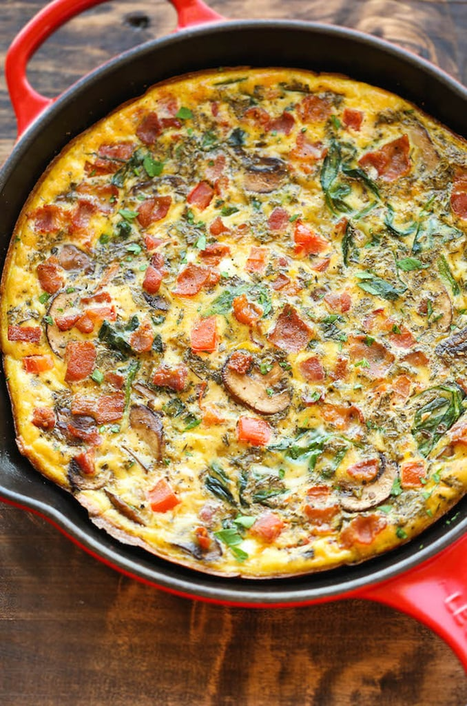 Bacon, Mushroom, and Spinach Frittata