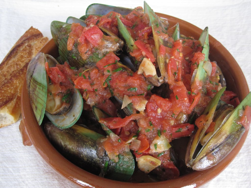 Steamed Mussels With Spicy Tomato and Herb Broth