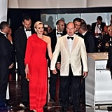 Princess Charlene of Monaco Jumpsuit Red Cross Ball