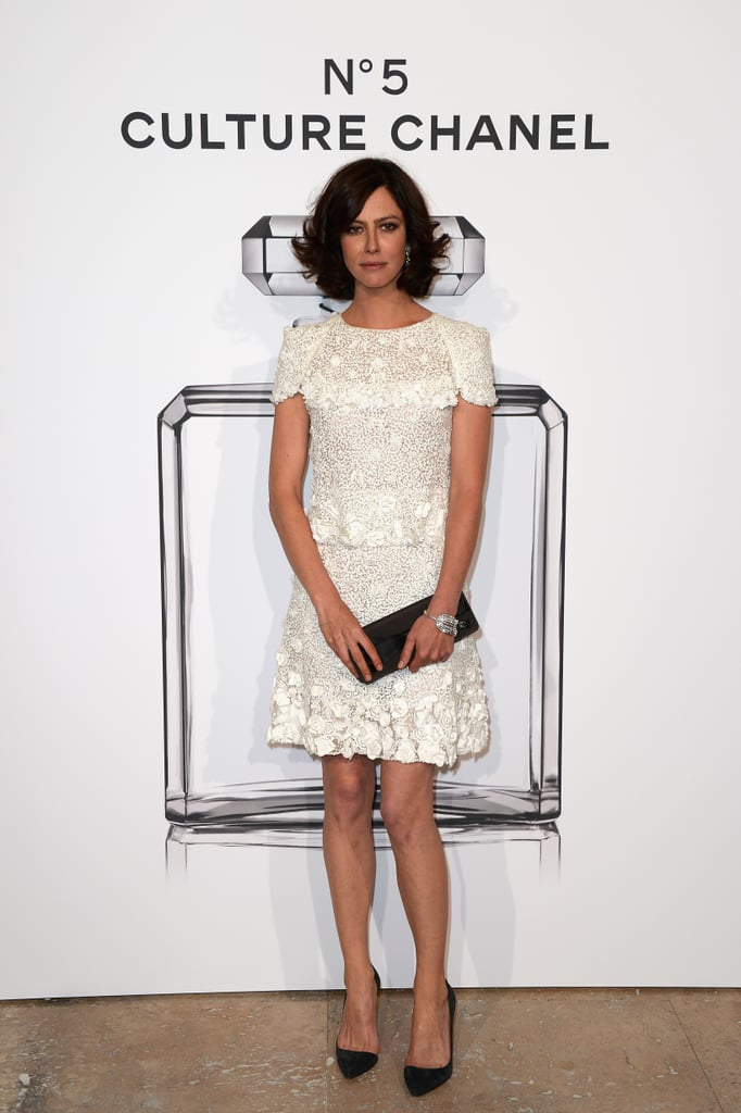 Anna Mouglalis at the N°5 Culture Chanel exhibition in Paris.