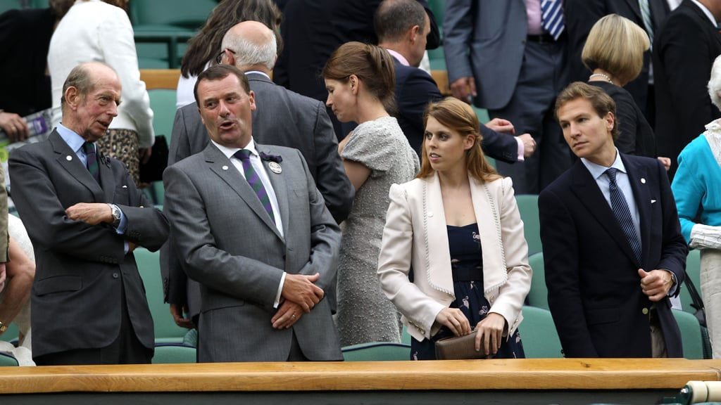 Princess Beatrice and Dave Clark hung out with royals during Wimbledon.