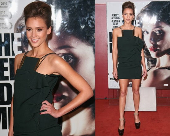 Jessica Alba at a Paris Screening of The Killer Inside Me
