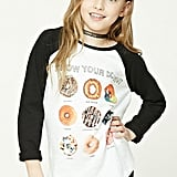 Donut Graphic Baseball Tee