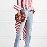 Monse Draped Striped Shirt