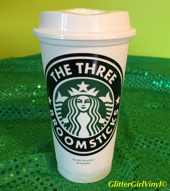 """Harry Potter Personalized Customized """"The Three Broomsticks"""" Starbucks Cup ($10)"""