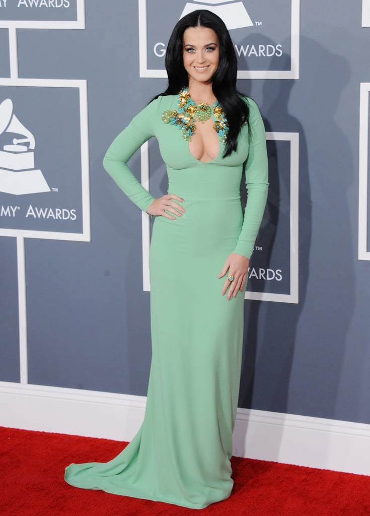 She put her assets on display at the February 2013 Grammys in LA.