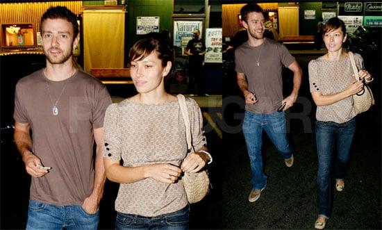 Photos of Jessica Biel and Justin Timberlake at Katsuya in LA