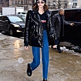 Kaia Landed in New York the Day Before the Start of Fashion Week
