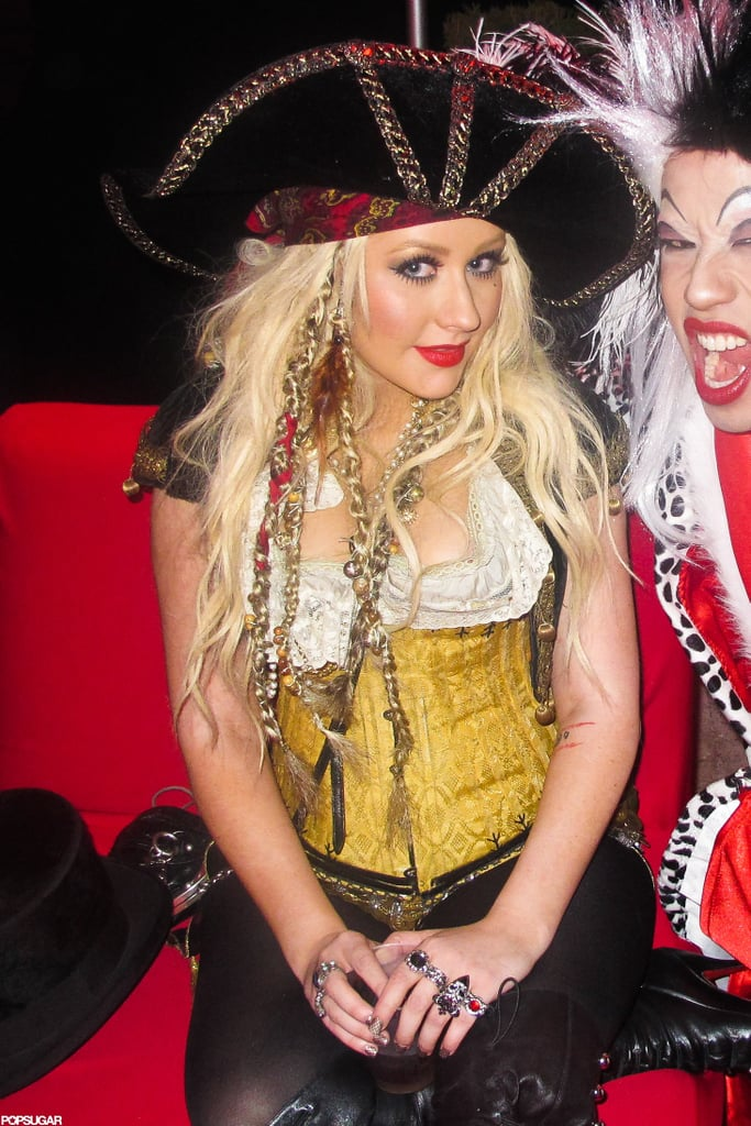 Christina Aguilera was a sexy pirate for a 2011 party in LA.