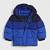 An ombré color palette has never looked as cool as it does in this blue Baby ColdControl Max Puffer ($68).