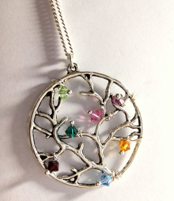 For the Grandma Who Love a Little Bling: Family Tree Birthstone Necklace