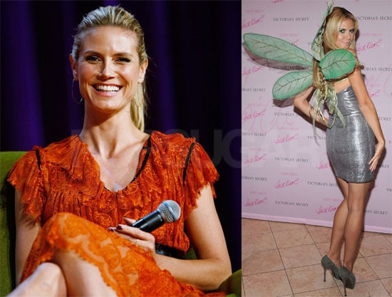 Photos of Heidi Klum at The Women's Conference and Very Sexy Makeup Collection, Quotes About Her First Pumpkin Pie