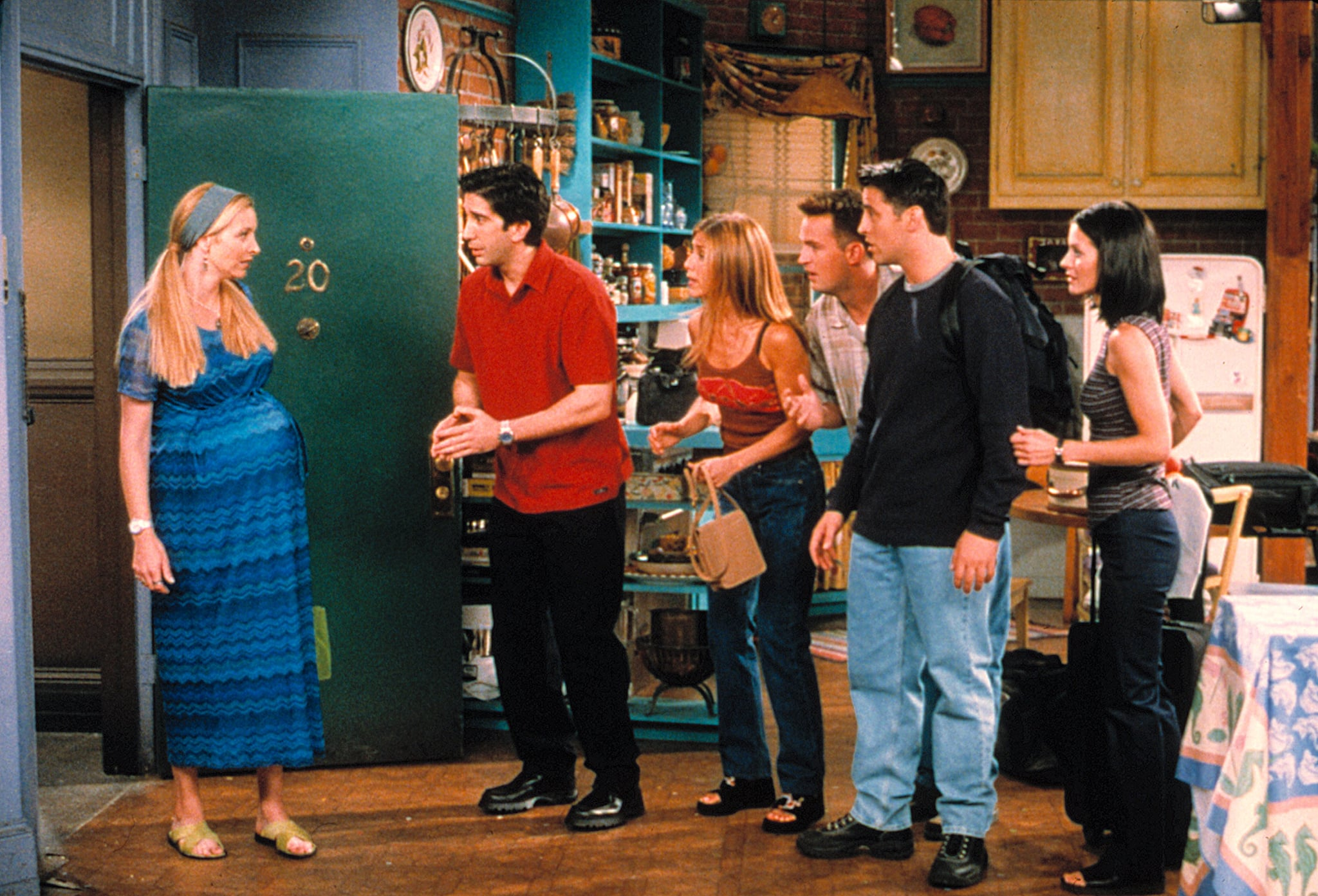 FRIENDS, Lisa Kudrow, David Schwimmer, Jennifer Aniston, Matthew Perry, Matt Le Blanc, Courteney Cox, 1994-current The One With All The Kissing, yr5, ep502, 10-01-1998