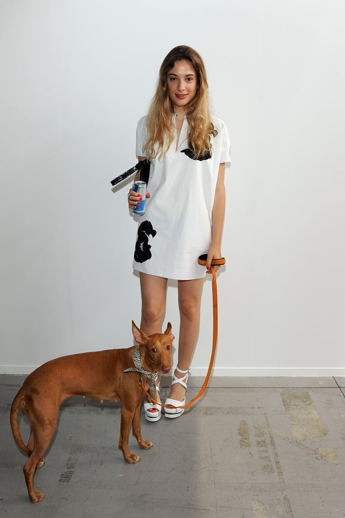 Anna Luisa Capasa  at the Costume National Homme Spring 2013 Show in Milan.