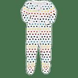 Primary Rainbow Heart Footie Pajamas ($20)