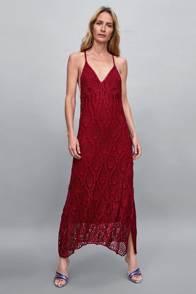 aadd98f622a2 Zara Limited Edition Crocheted Maxi Dress | Fall Wedding Guest ...