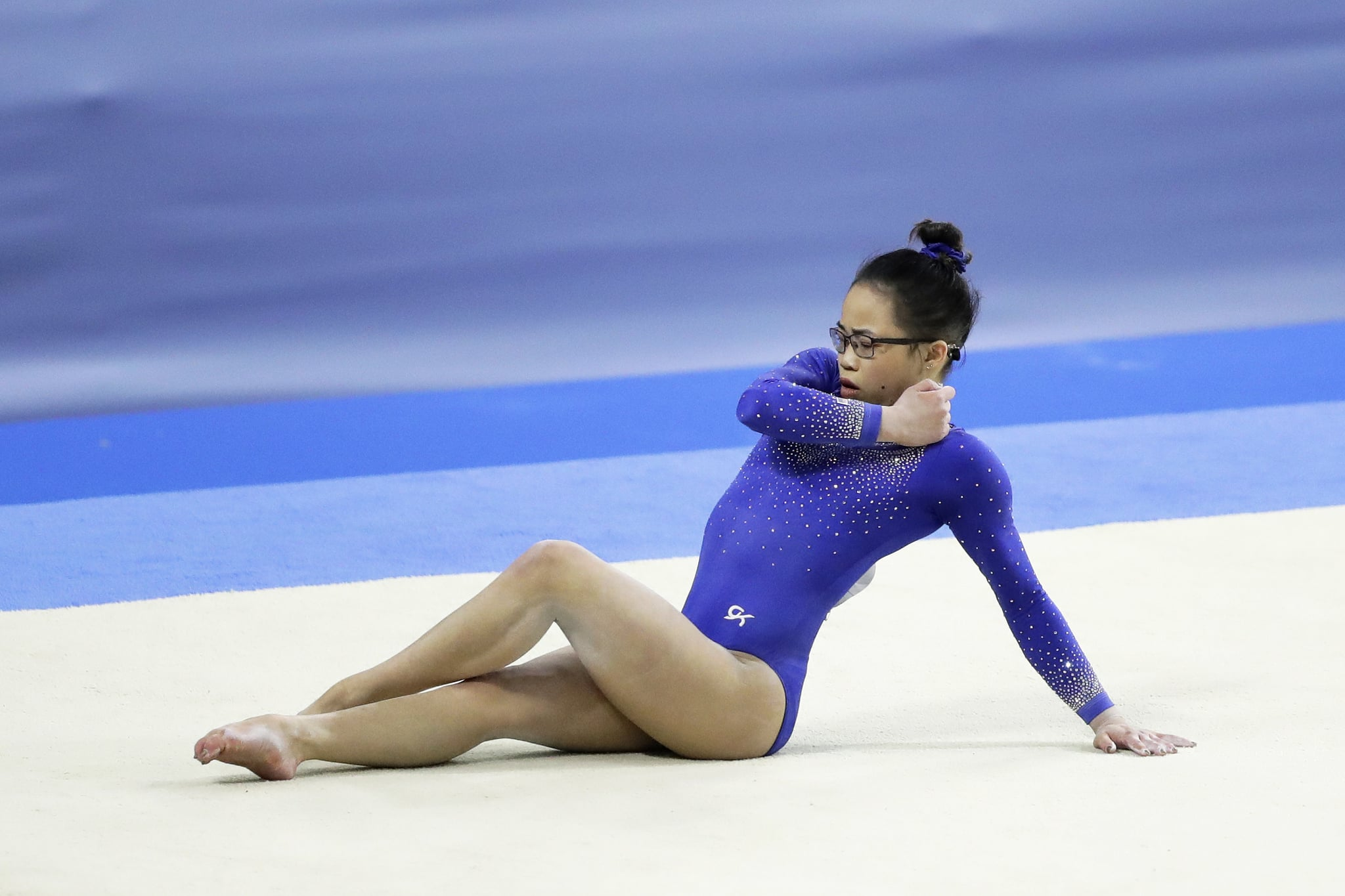 CHOFU, JAPAN - APRIL 07: Morgan Hurd of the United States competes in the Women's Floor Exercises during the FIG Artistic Gymnastics All-Around World Cup Tokyo at Musashino Forest Sport Plaza on April 7, 2019 in Chofu, Tokyo, Japan. (Photo by Kiyoshi Ota/Getty Images)