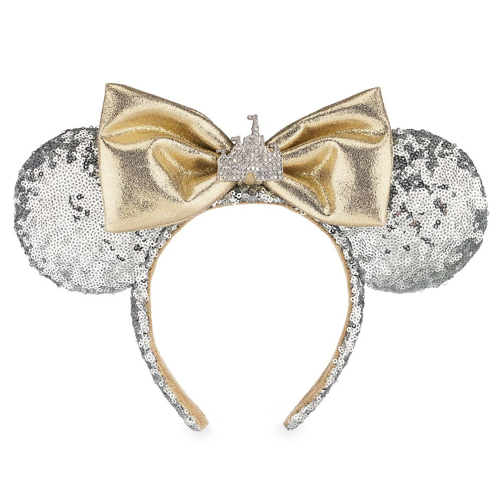 Minnie Mouse Sleeping Beauty Castle Ear Headband — Silver Sequins