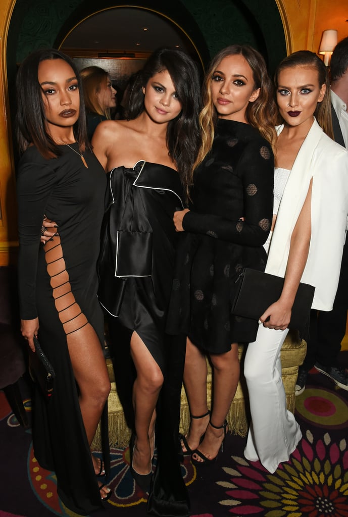 Pictured: Selena Gomez, Perrie Edwards, Jade Thirlwall, and Leigh-Anne Pinnock