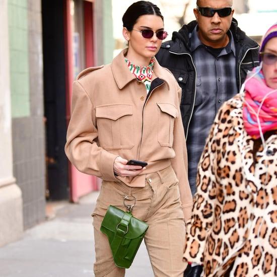 Kendall Jenner's Green Ring Bag