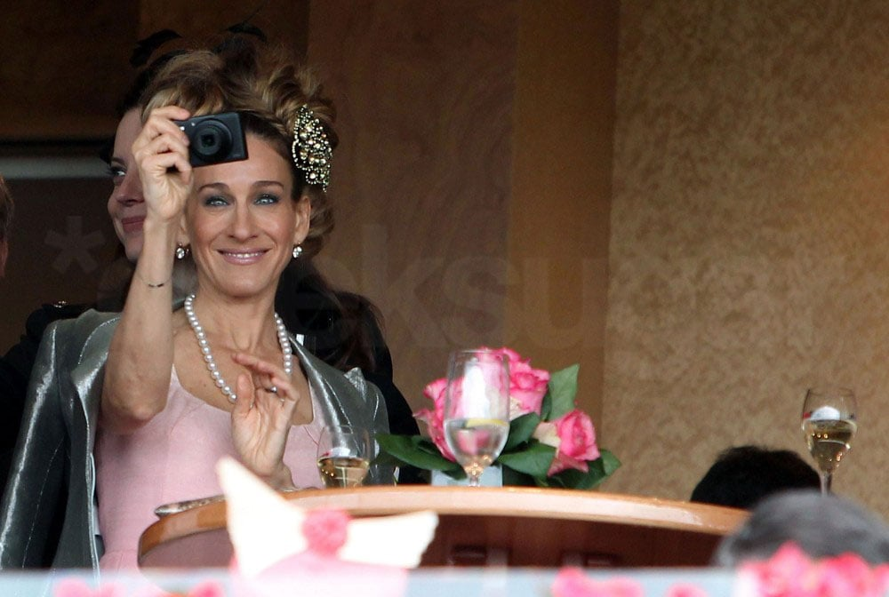 Sarah Jessica Parker captures the crowd with her digital camera.