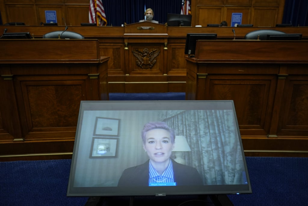 Megan Rapinoe Talks to House of Representatives on Equal Pay