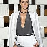 Alessandra Ambrosio's Bottega Veneta White Suit Oct. 2016