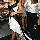 At the Peeples premiere in LA, Kerry played to the black-and-white craze in her Narciso Rodriguez high-low gown and Christian Louboutin pumps.