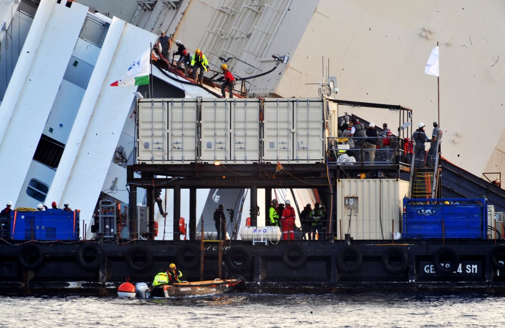 Engineers worked to right the vessel so that it could be towed away and scrapped.