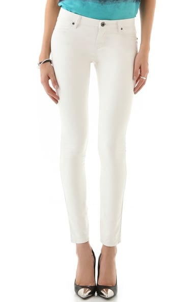 We love a little — actually a lot — of white in the Winter, so that's why we can't stop staring at these Blank white vegan leather pants ($88). They would look great with an all-white or black-and-white outfit.