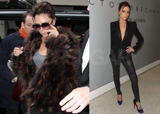 Photos of Victoria Beckham Showing Off Her Designs at Bergdorf Goodman Before Cohosting The View