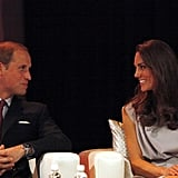 Prince William and Kate Middleton lock eyes at the business summit in California.