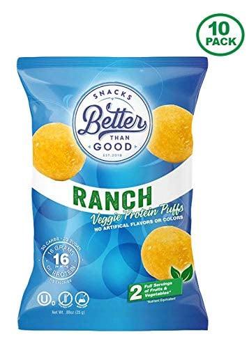 Better Than Good Snacks Ranch Veggie Protein Puffs