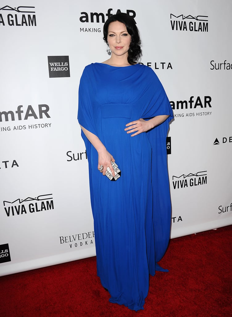 Laura Prepon made a statement in blue.