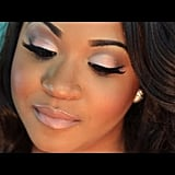 Neutral Wedding Makeup With a Pop of Colour