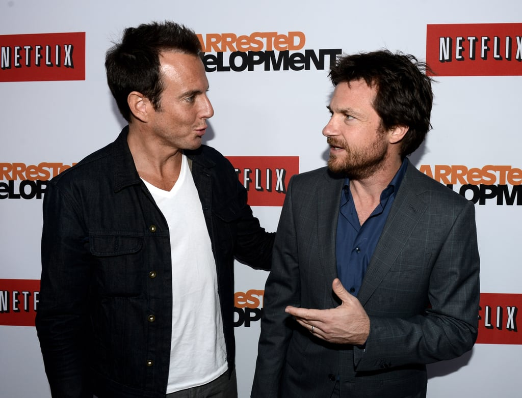 "Will Arnett and Jason Bateman starred together in four seasons of Arrested Development, and it looks like their relationship progressed to real-life too. It's hard to tell who's harboring the crush here, but Will once joked that he and Jason  were dating: ""Jason and I were just looking to have a little pied-à-terre in the city. And look, we're not dating per se. And obviously she—he would like to."""