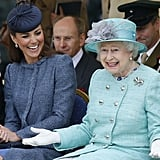 Queen Elizabeth II and the Duchess of Cambridge in 2012.