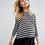 Maternity/Nursing Stripe Sweatshirt