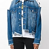 Sjyp Destroyed Denim Jacket Blue