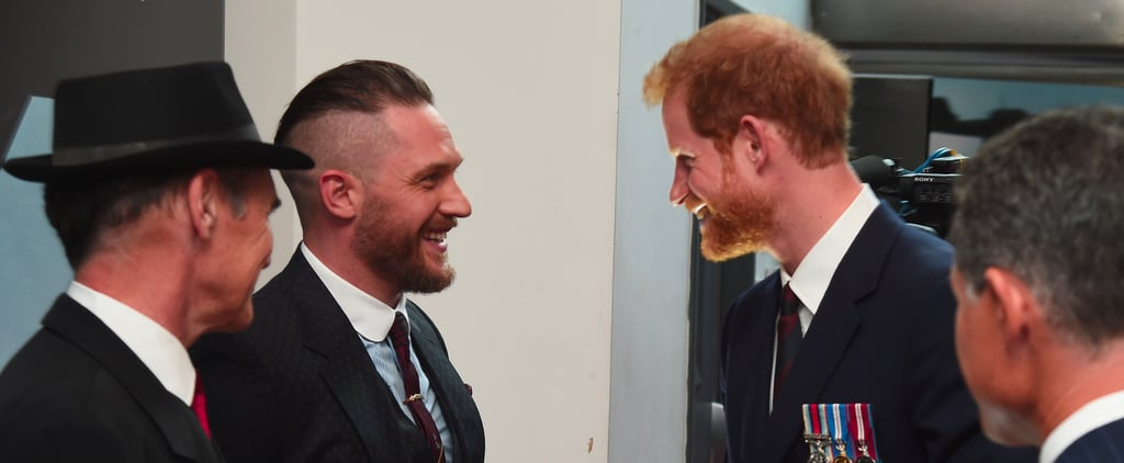 Photos of Tom Hardy and Prince Harry Together