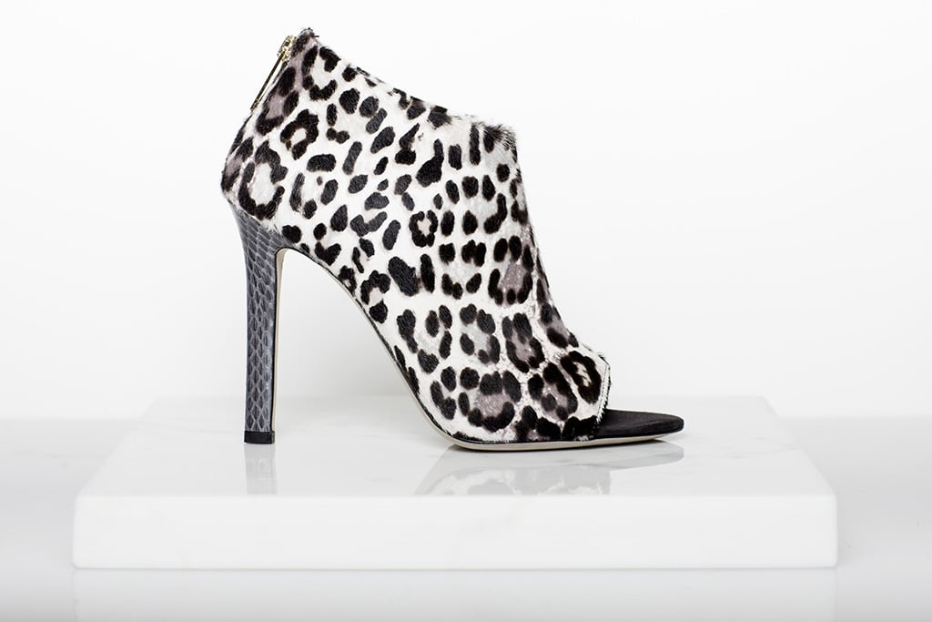 Desire Pony Open Toe Bootie in Grey Leopard ($995) Photo courtesy of Tamara Mellon