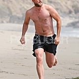 Robert Pattinson wore black shorts.