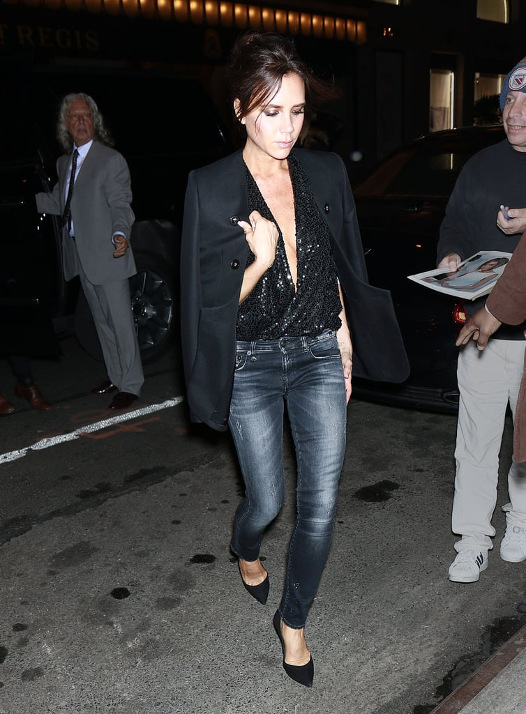 Victoria Beckham Wearing Jeans