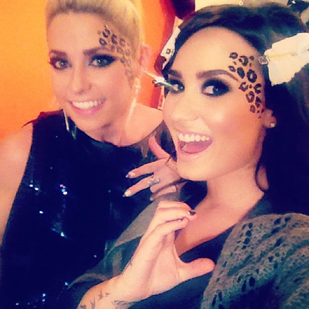 The X Factor judge Demi Lovato rocked her contestant CeCe Frey's signature spots. Source: Instagram user ddlovato